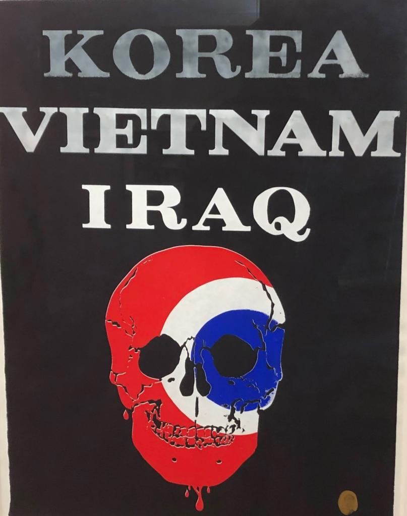 Tom Benton anti-war poster