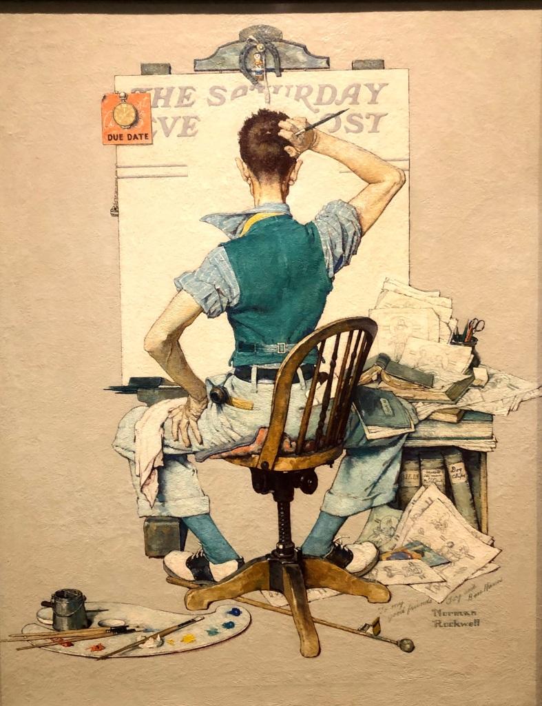 Artist Facing Blank Canvas (Deadline)