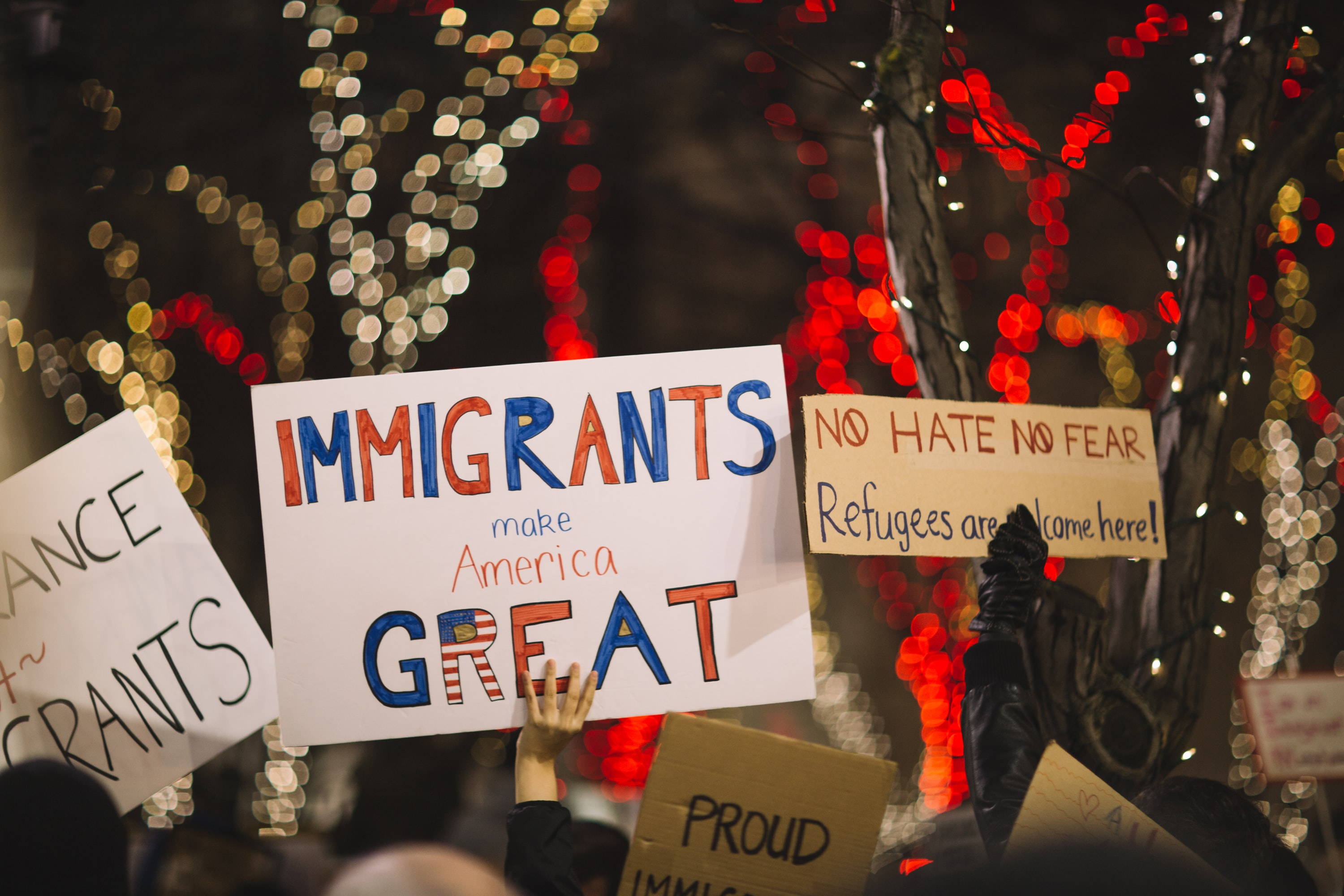 Demonstrating for immigrants