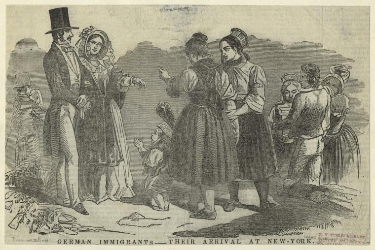 German immigrants arriving in New York